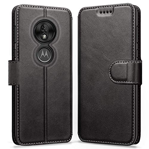 ykooe Case Compatible with Motorola Moto G7 Power, Leather Wallet Flip Case Moto G7 Power Phone Case with Card Slots Protective Cover for Motorola G7 Power
