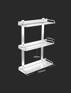 CWJ Toallero Cuarto de baño Bastidores de Cocina Rack de Almacenamiento  sólido de Tres Niveles Espacio Hardware de Aluminio Colgante Multifuncional  Serie de ... e35ae3d012dd
