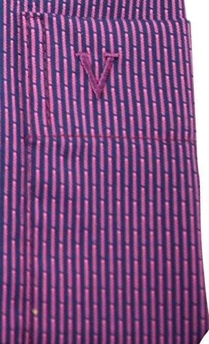 Marvelishemd modernfit marine pink gemustertes Hemd halbarm New Kent mit Tasche Kollektion Size 39
