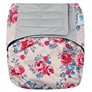 HappyEndings Contoured  Day or Night  All In One AIO Hook and Loop Cloth Diaper (+Pocket)  Rosy