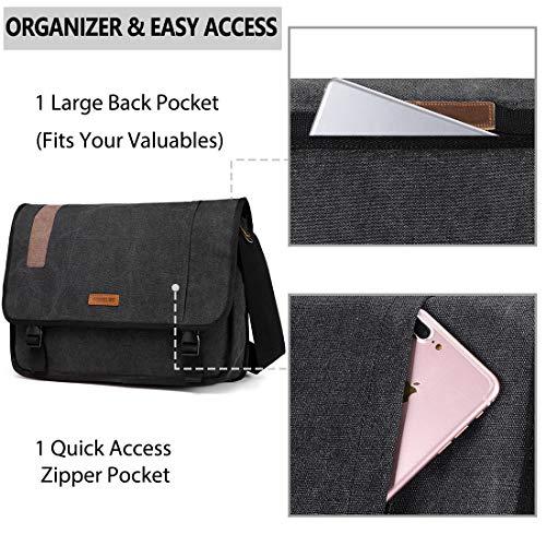 fc7fd2c49234 Vonxury Canvas Mens Messenger Bag Vintage 15 inch Laptop Bag ...