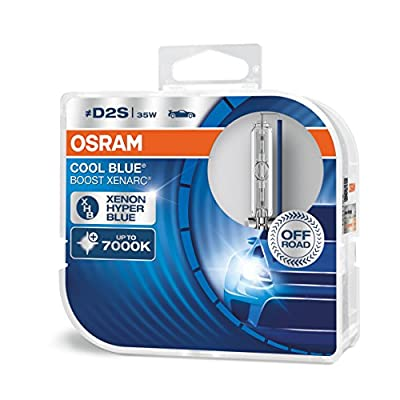 OSRAM Xenarc Cool Blue Boost D2S Xenon Car Headlight Bulbs (Twin) 66240CBB-HCB: Automotive