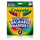 image for Crayola Ultra-Clean Washable Markers, Broad Line, 8 Count