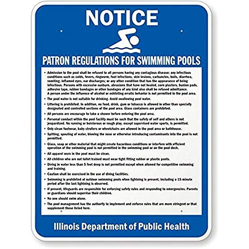 - Joycenie New Aluminum Metal Sign Road Sign Illinois Pool Rules Sign 8x12 Inch