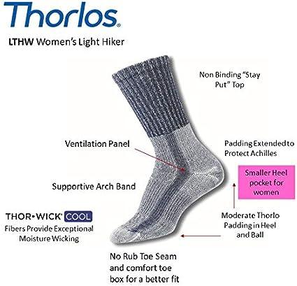 Thorlos Womens Light Hiking Crew Socks
