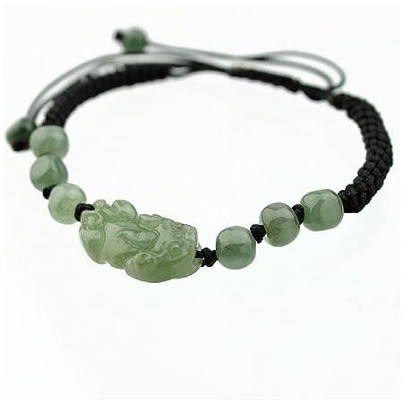 BRACELET noir et PIXIU en JADE vert - Symbole Feng Shui de Richesse et  Protection - Pochette en Satin Offerte  Amazon.fr  Cuisine   Maison 94248101c917