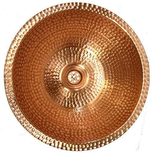 Amazon.com: Copper Bathroom Sink Polished Luxury Gold