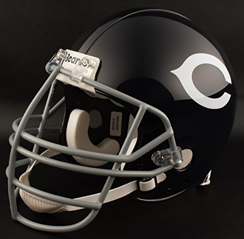 (Riddell Chicago Bears 1962-1972 NFL Replica Throwback Football Helmet w/NJOP Facemask)