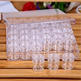 Teemico 1 Set of Transparent Storage Box with 30 Slots for Nail Art Tools Storage Small Parts Beads Jewelry Make up Tools Organizer Container