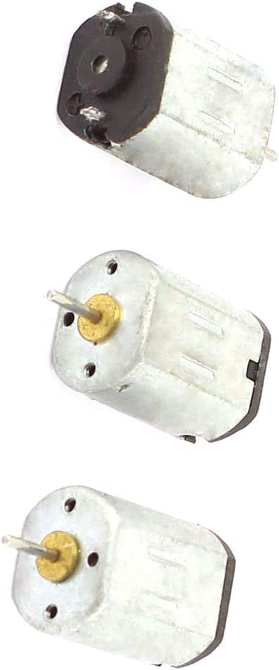 Aexit 3 Pcs Electric Motors N20 1.5-4.5V 6000RPM High Speed Electric DC Micro Fan Motors Mini Motor