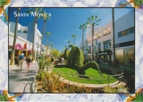 POSTCARD 152 - SANTA MONICA, CALIFORNIA .. from Hibiscus - Santa Shopping Monica
