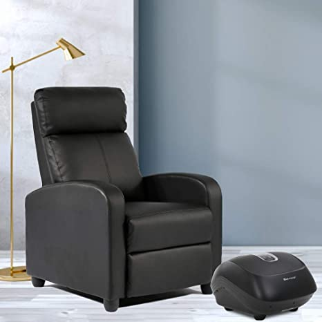 Amazon.com: Recliner Chair Single Sofa Leather Chaise Counch ...
