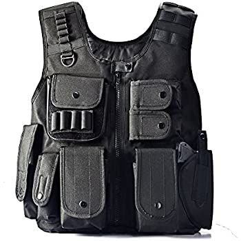 YAKEDA Law Enforcement Tactical SWAT Vest Army Fans Outdoor Vest Cs Game Vest,cs Field Vest Cosplay of Counter Strike Game-E88017