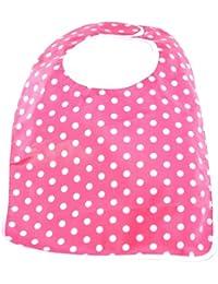 Laminated Toddler Bib, Dot Shocking Pink