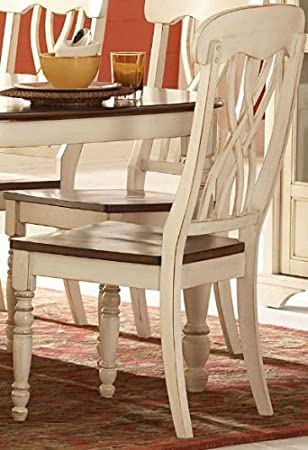 Amazing Amazon.com   Homelegance Ohana Side Chair   Set Of 2 (Antique White)    Chairs