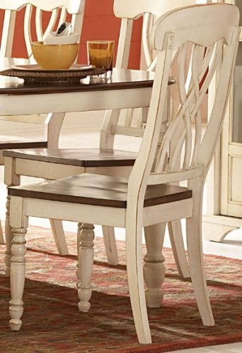Good Ohana Side Chair [Set Of 2] Finish: Antique White