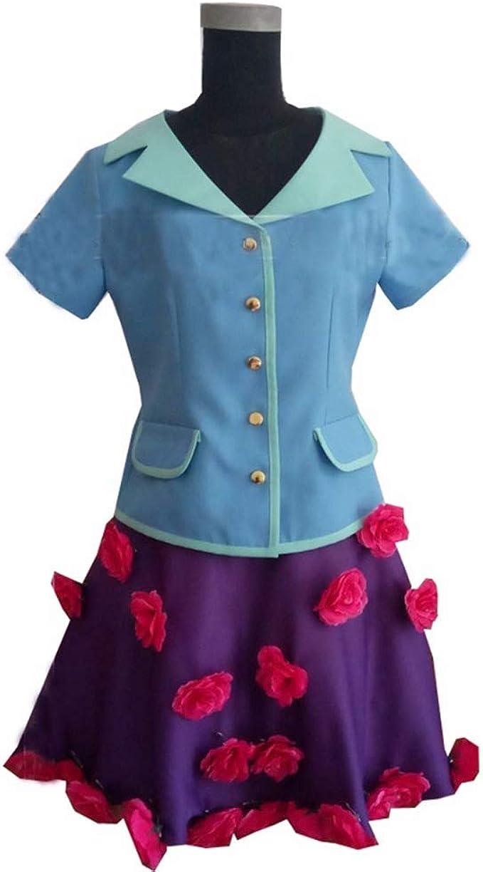 Amazon.com: suhero Hirose Yasuho Cosplay Costume JoJo's Bizarre Adventure Blue Flower Dress Halloween Christmas Costume: Clothing