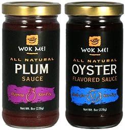 Wok Mei Plum 8oz & Wok Mei Oyster 8oz SET