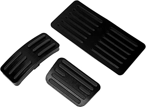 Akozon Pedals Set Non-Slip Performance Foot Pedal Pads Covers Aluminum Anti-Slip Accelerator Foot Pedals for Automatic Vehicles AT Car Silver