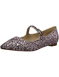 Women's Estrella Mary Jane Glitter Ballet Pointed Toe Flat