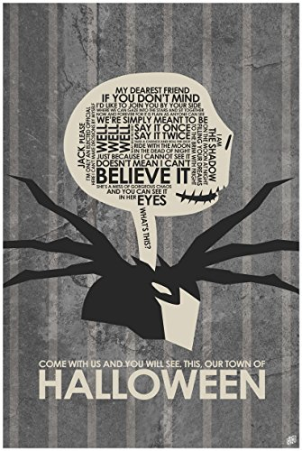 Our Town Halloween Word Art Print Poster (30
