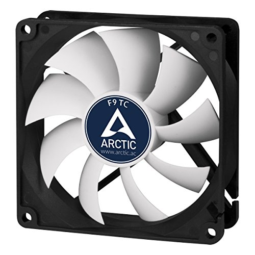 ARCTIC F9 TC - Temperature-Controlled 92 mm Case Fan | Standard Case Cooler | Intelligent Heat Detector regulates RPM | Push- or Pull -