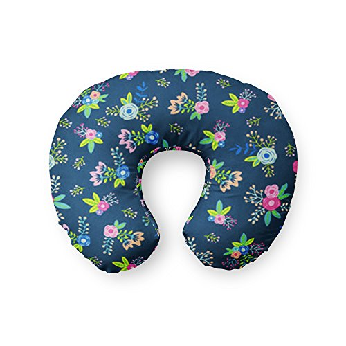 AllTot Nursing Pillow Cover in Navy Floral