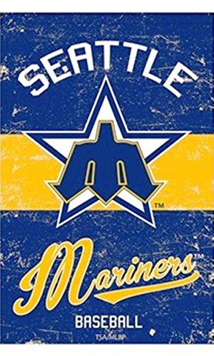 Rico Industries, Inc. Seattle Mariners EG VINTAGE Retro BANNER Premium 2-sided 28x44 House Flag Baseball