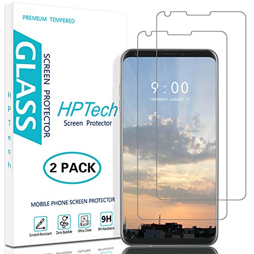HPTech LG V30 Screen Protector - (2-Pack) [Japan Tempered Glass] for LG V30 / V30 Plus Easy to Install, 9H Hardness with Lifetime Replacement Warranty