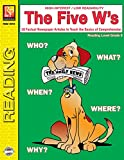 "Remedia Publications REM487D Reading Level 5 ""The Five W's Book"", 8.5"" Wide, 11"" Length, 0.1"" Height"