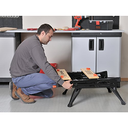 Black & Decker WM225 1pieza(s) Acero caballete - Caballetes (204,11 kg, Acero, Madera, 1 pieza(s)): Amazon.es: Bricolaje y herramientas