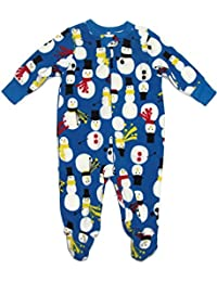 Baby Boys 3-6 Months Winter Snowman Fleece Pajama Sleeper