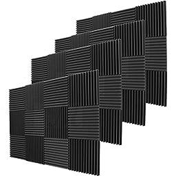 48 Pack Acoustic Panels Studio Foam Wedges 1\