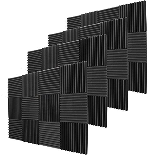 48 Pack Acoustic Panels Studio Foam Wedges 1'' X 12'' X 12'' by Mybecca