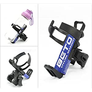 BETO Adjustable Quick Release Water Bottle Cage Holder Rack for MTB Bike - Black