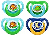4 Playtex Ortho-Pro Binky Silicone Pacifier, 6 Months+ (Boys Colors)