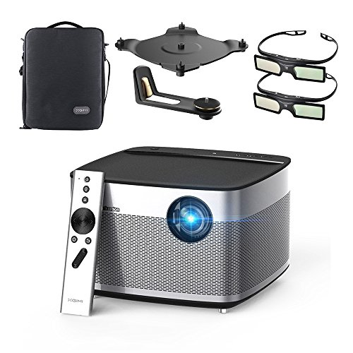 """XGIMI H1 DLP Projector 300"""" Display Home Theater Native HD 1080P Support 4K 3D 900ANSI Lumens with Harman Hardon Stereo+Mounting Kit+DLP Link Active 3D Glasses-Lightwish"""