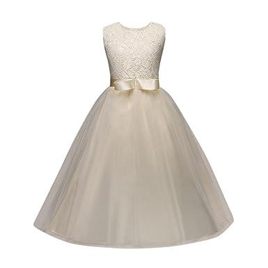 c471e1930d049 Mhomzawa 子供ドレス お姫様 女の子 キッズ レース ワンピース 可愛い 蝶結び リボン付 ガーゼ フォーマルドレス 結婚