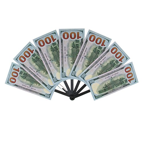 MonkeyJack Novelty Dollar Bill Hand Fan Summer Folding Fan Funny Party Accessory