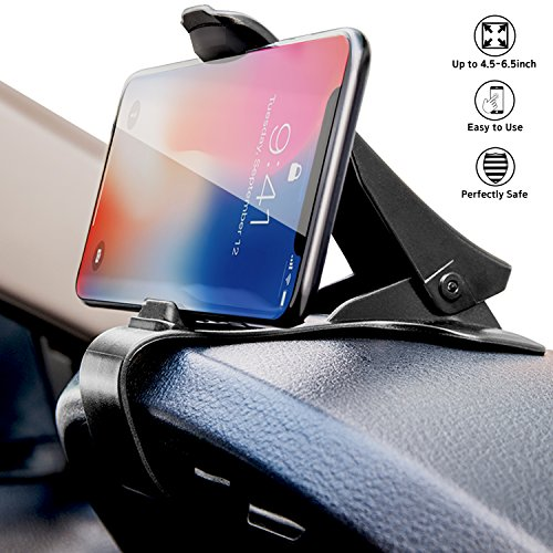 Dashboard Cell Phone Holder HUD Car Phone Mount LabelBro Universal Cradle Adjustable GPS Holder Dashboard Phone Mount for iPhone 7 7Plus 6S Samsung Galaxy S7 S6 & Other Smartphone/GPS Navigation