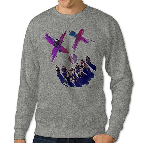 [101Dog Suicide Squad Team Mens Pullover Sweatshirt Large Ash] (Soccer Player Halloween Costume Boys)