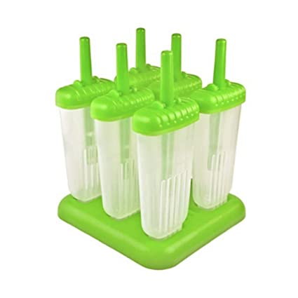 Isuper 6 Piezas de clásicos de Paleta moldes fijados BPA del 6 de Hielo del Molde