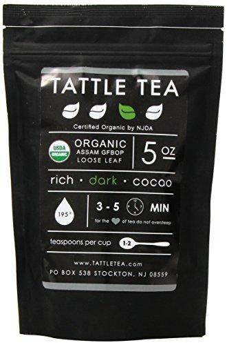 Tattle Tea Organic Assam Gfbop Black Tea, 5 Ounce - Organic Assam Black Tea