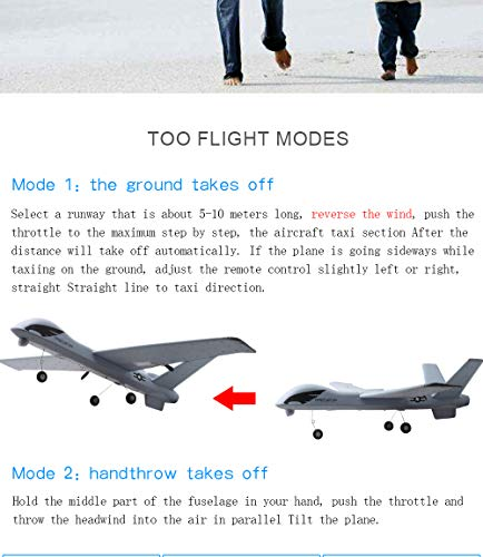 Studyset Flying Model Gliders RC Plane 2.4G 2CH Predator Z51 Remote Control RC Airplane Wingspan Foam Hand Throwing Glider Toy Planes by Studyset (Image #8)