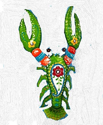 Tropical Metal Wall Sculpture Lobster NEW