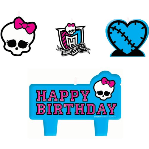 Monster High Mini Molded Candles Birthday Party Supplies Girl (Halloween Party Logo)