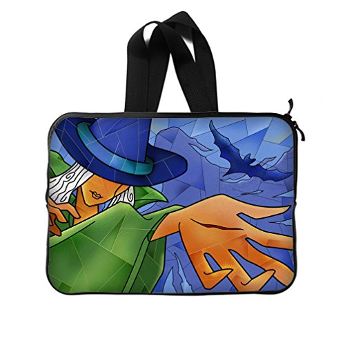 JIUDUIDODO Custom Cool Halloween Evil Jack with Bat Neoprene Laptop Sleeve 14