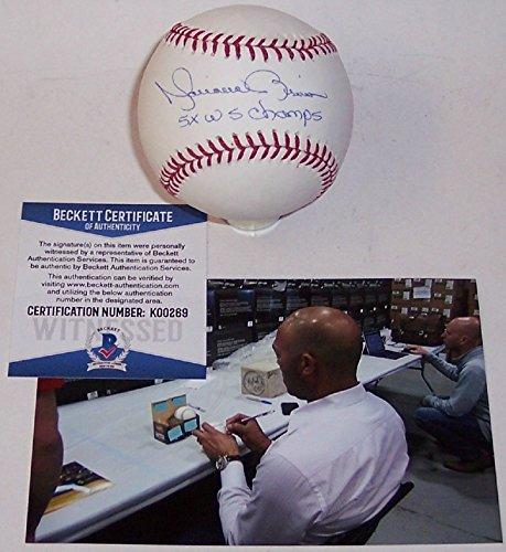 Mariano Rivera Autographed Hand Signed Rawlings Official MLB Major League Baseball - BAS -