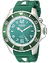 KYBOE! Power Quartz Stainless Steel and Silicone Casual Watch, Color:Green (Model: KY.48-018.15)