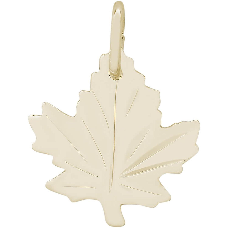 レンブラントチャーム10 KイエローゴールドMaple Leaf Charm on 16、18、または20インチロープ、ボックスまたはツイスト縁石チェーンネックレス B075KYS8Q4